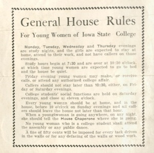 Close up of General House Rules