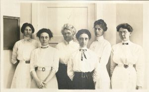 Home Economics faculty (MacKay is third from left), 1912. University Photographs, RS 12/1/D, Box 908