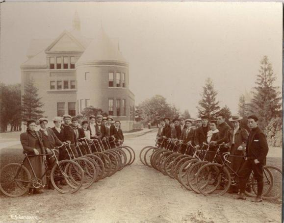 Bicycle Club, circa 1898. University Photographs, box (#).