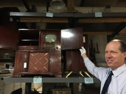 State Curator, Leo Landis, shows us an old television model