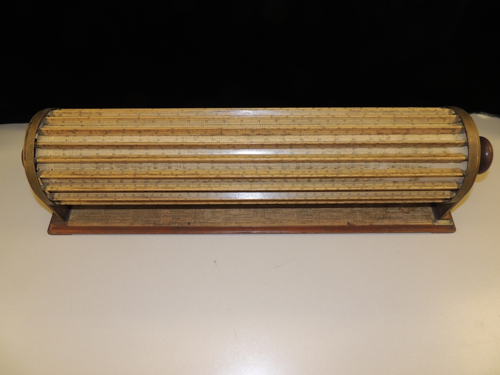 Cylindrical slide rule or Thacher's Calculating Instrument