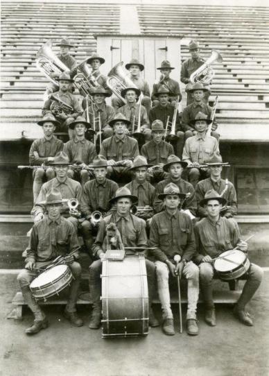 Military band, 1918. University Photographs, Box 1106