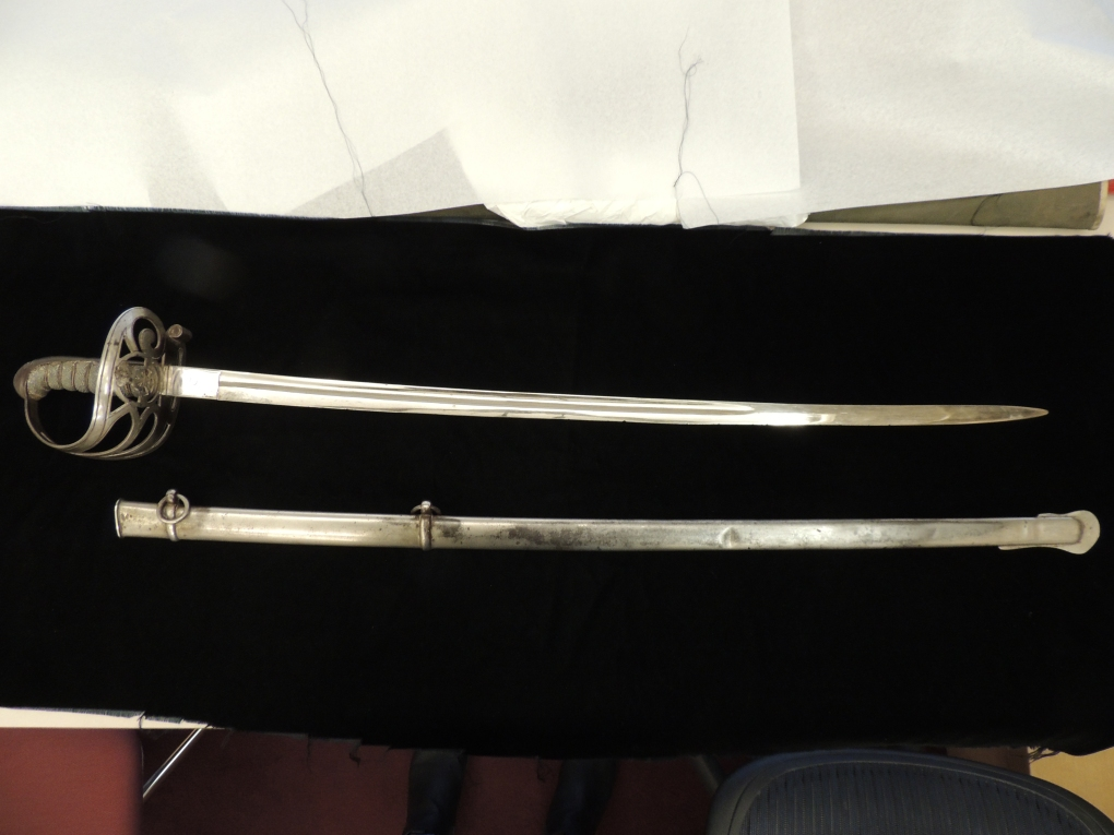 General Geddes Sword (Artifact #2015-R003)