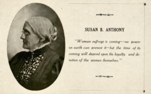 Postcard of Susan B. Anthony, n.d. (Woman Suffrage Collection, MS 471)