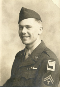 Portrait of Howard P. Johnson in his military uniform, 1943