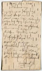 Letter from Howard P. Johnson, May 20, 1945