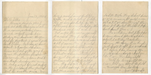 Letter from Howard Johnson to his folks, June 12, 1944.
