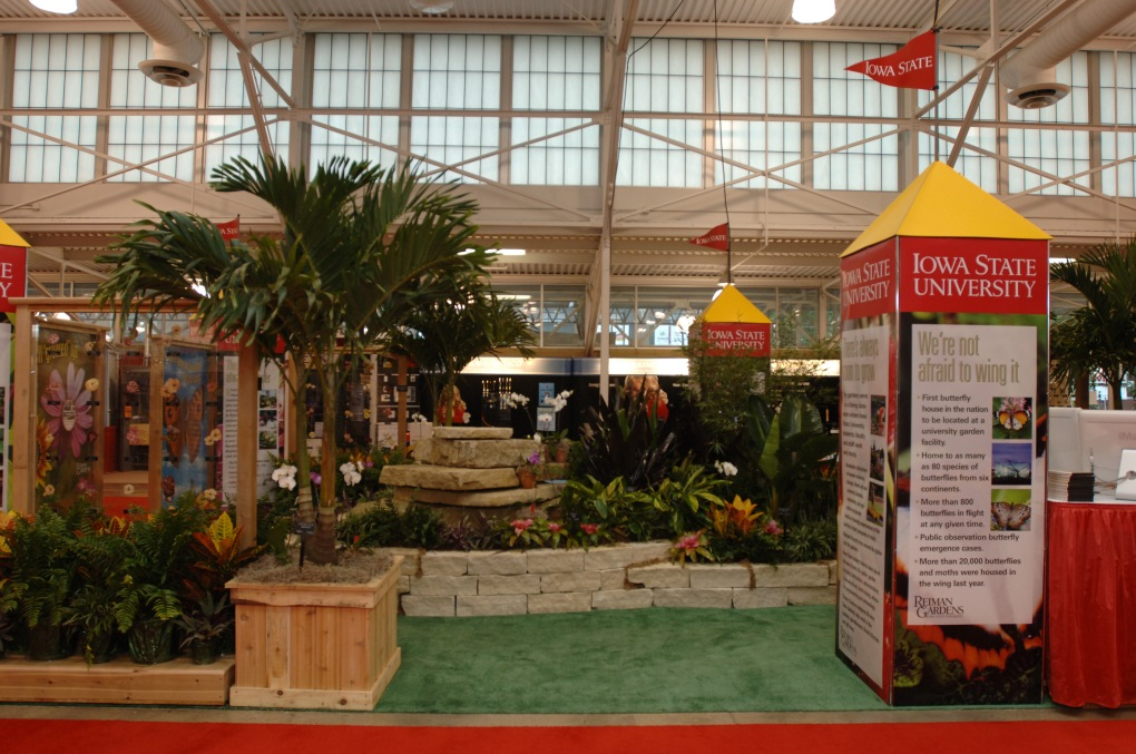 2005 Iowa State University state fair exhibit featuring Reiman Gardens