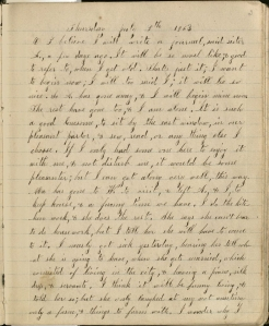 Barker describes her decision to begin a diary.