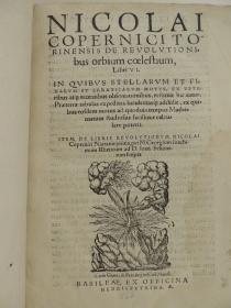 Title page from Copernicus's De Revolutionibus, call number QB41 C79d.