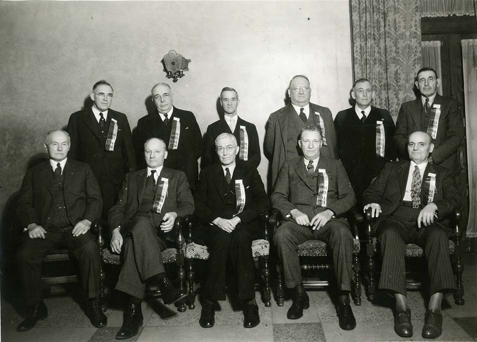 Photograph of members of the 1894 team at their 40th year reunion in 1934.