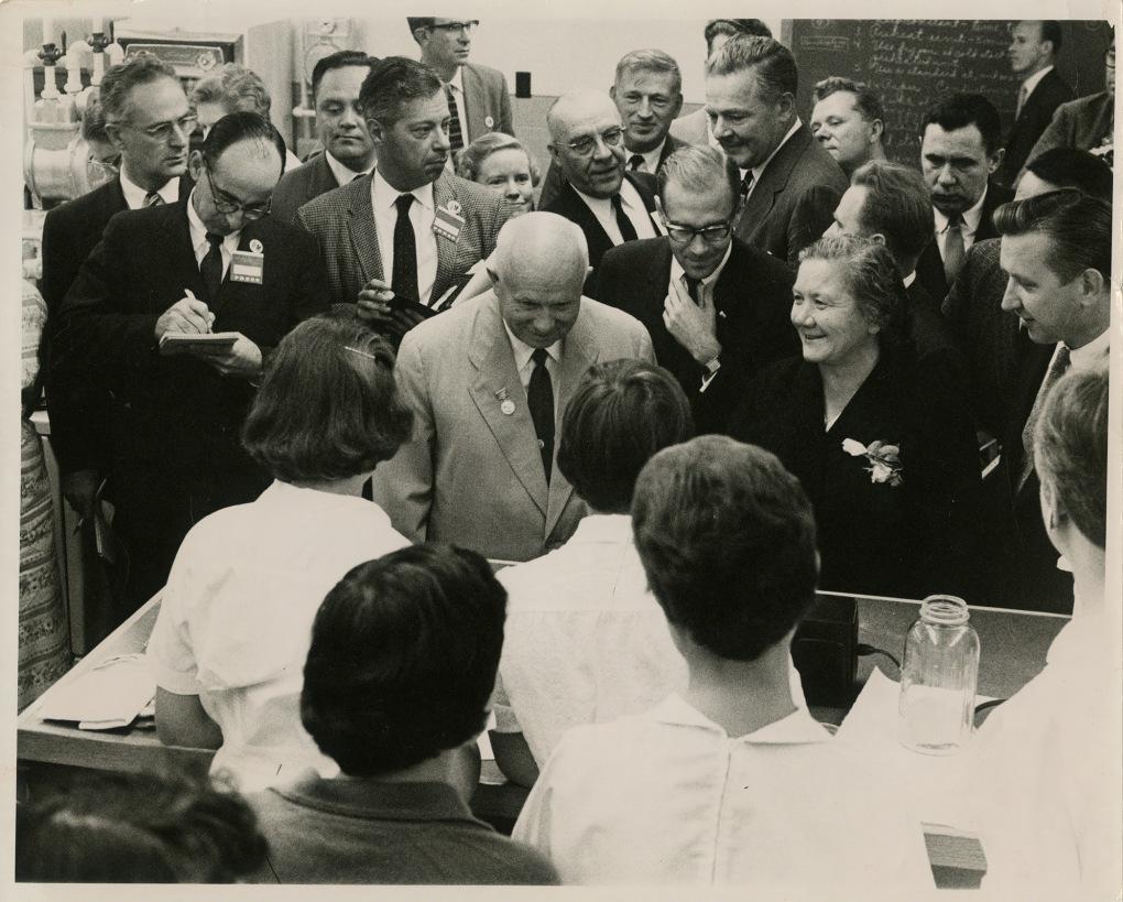 Khrushchev visits Iowa State, 1959