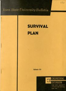 Iowa State University Bulletin 133, Survival Plan