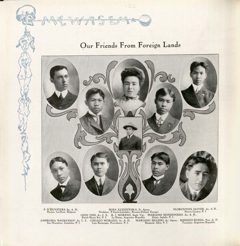 "Page from the 1906 Bomb with the title, ""Our Friends from Foreign Lands"""