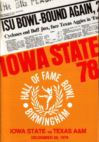 Program cover for the 1978 Hall of Fame Classic football game