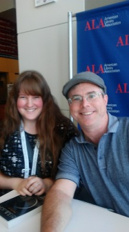 Rachael meeting Andy Weir.