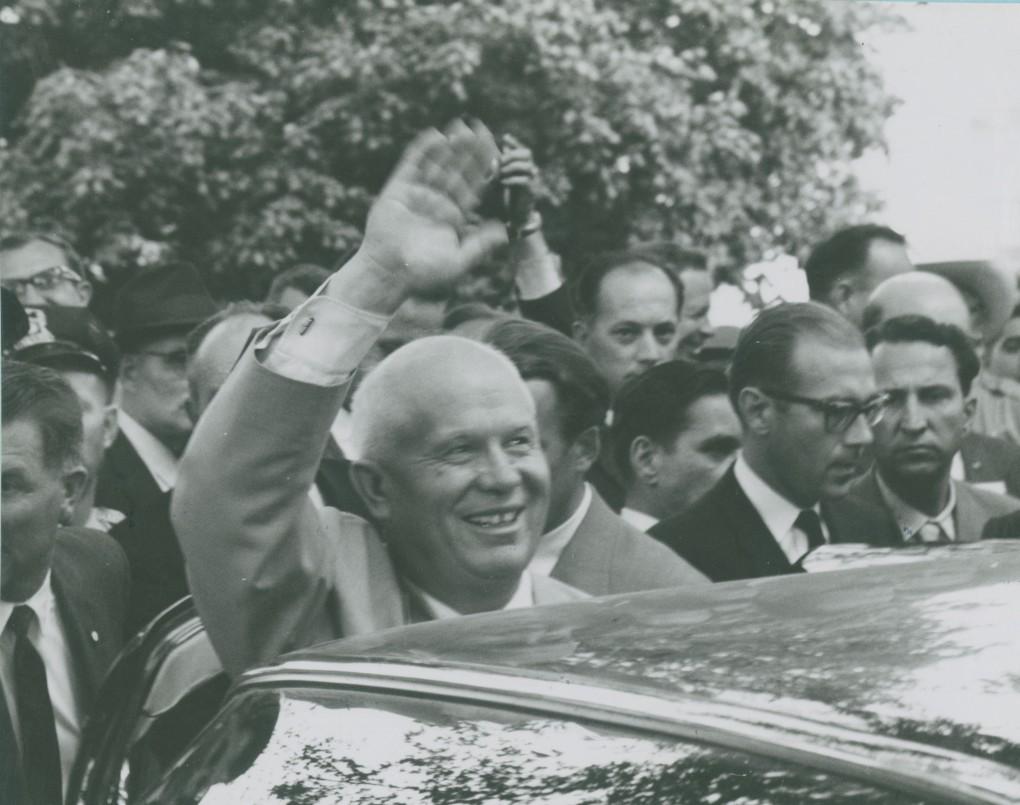 Khrushchev waving