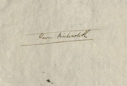 "Owner signature reads, ""Henry Bickersteth."""