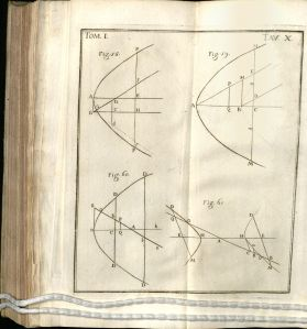 Four drawings of conical sections, including figures 58, 59, 60, and 61.