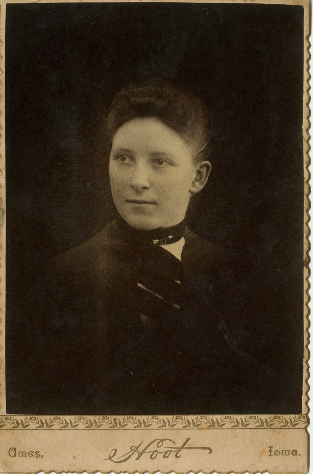 Elmina Wilson at her 1892 graduation from ISU with a B.S. in Civil Engineering (University Photographs, RS# 21/07)
