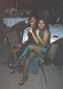 Photograph of Eta Tau Chapter members at a formal event, ca. 1995. Courtesy of Keena Thicklin, AKA 1993 Initiate and ISU Class of 1995.