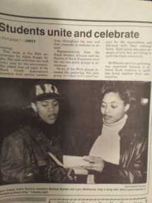 Iowa State Daily article, January 1993. Courtesy of Tasha Oakley, AKA Fall 1993 Initiate and ISU Class of 1997.