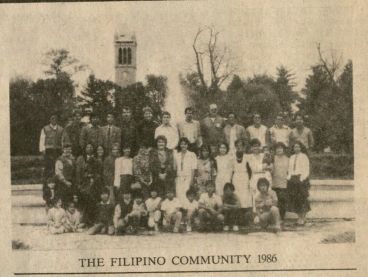 From the 1986 Kampanilya Newsletter: The Filipino Community 1986 (Filipino Student Association file, RS 22/3/0/1, box 1).