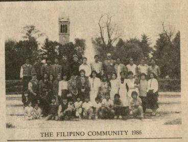 From the 1986 Kampanilya Newsletter: The Filipino Community 1986 (Filipino Student Association file, RS 22/3/0/1, box 1).