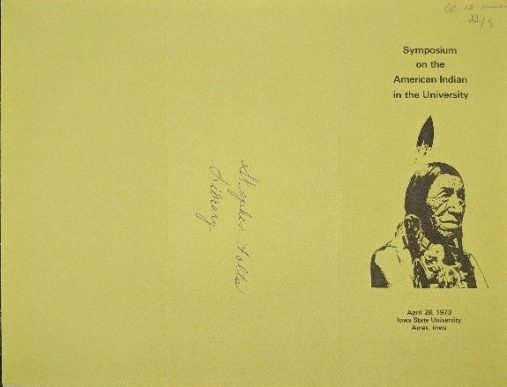 Schedule of events cover) for the 1973 Symposium on the American Indian in the University.