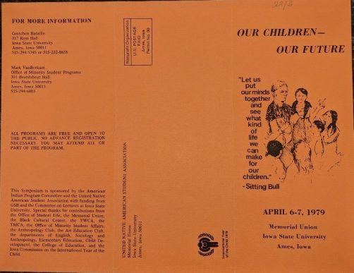 "Brochure cover for ""Our Children, Our future, April 6-7, 1979."