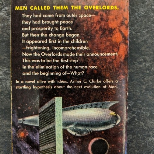 Back cover of Childhood's End by Arthur C. Clarke.