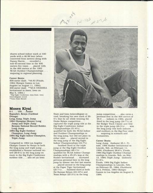 1985 media guide page 10. RS 24/11/0/6 Box 1, folder 2