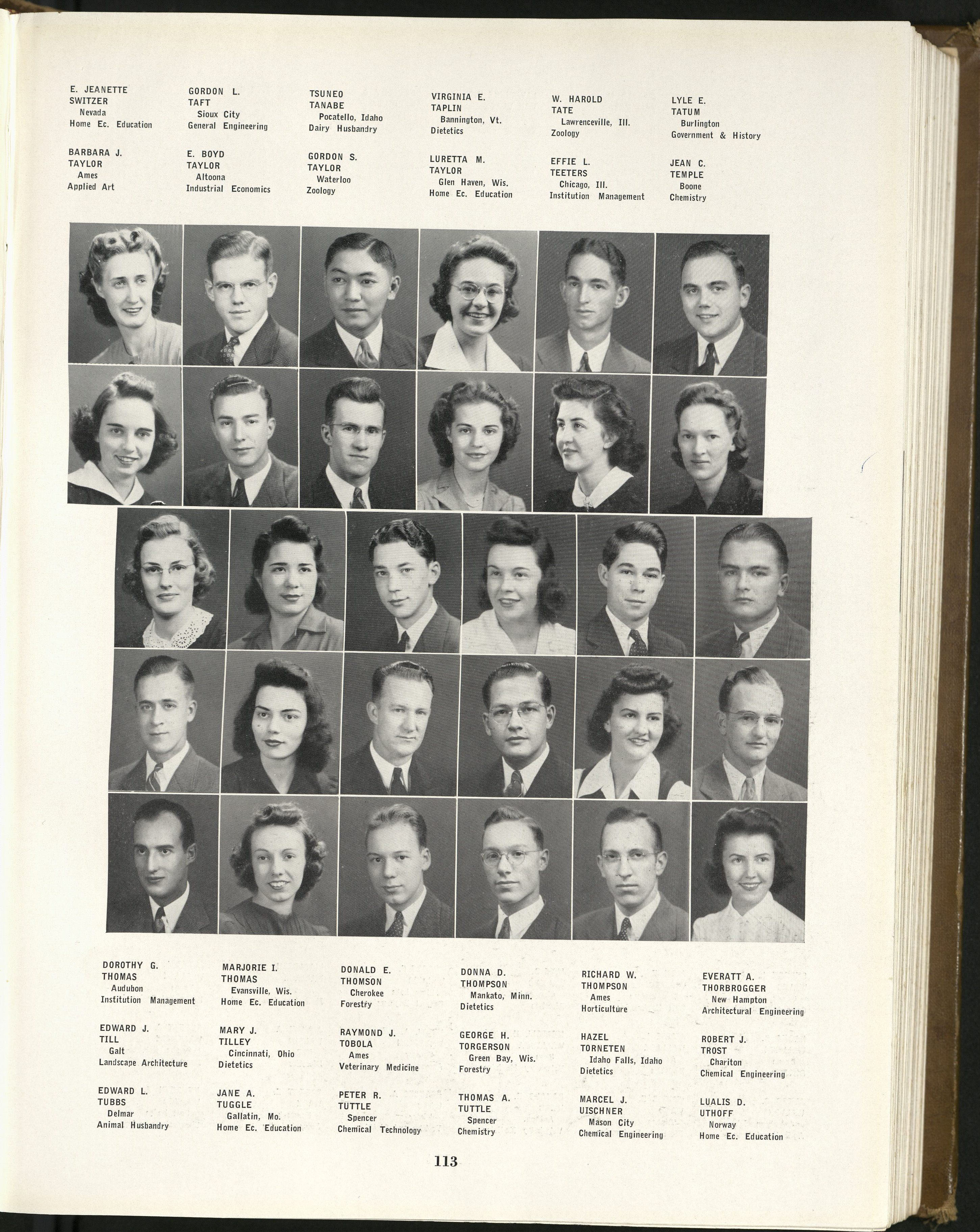 1942_Tanabe with Classmates
