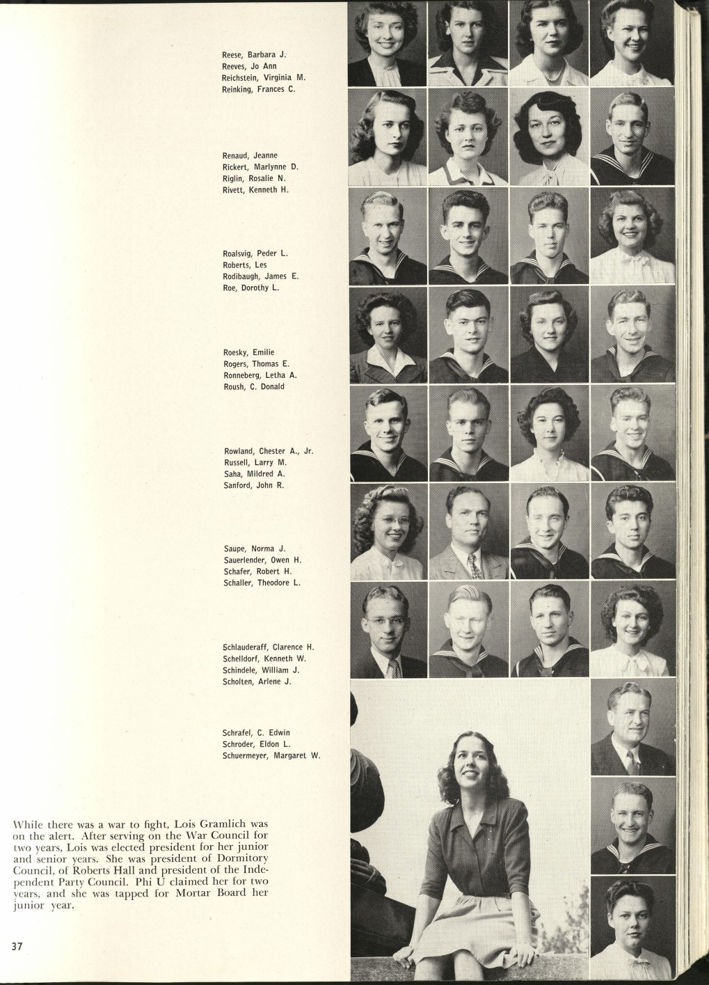 1946_Mildred with Classmates