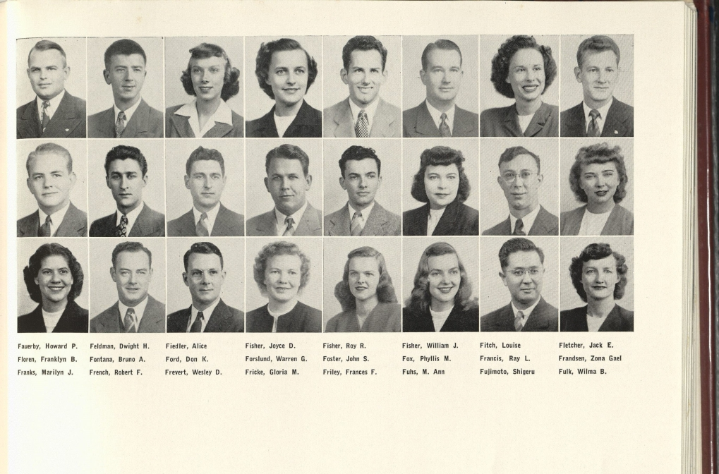 1947_Fujimoto with Classmates