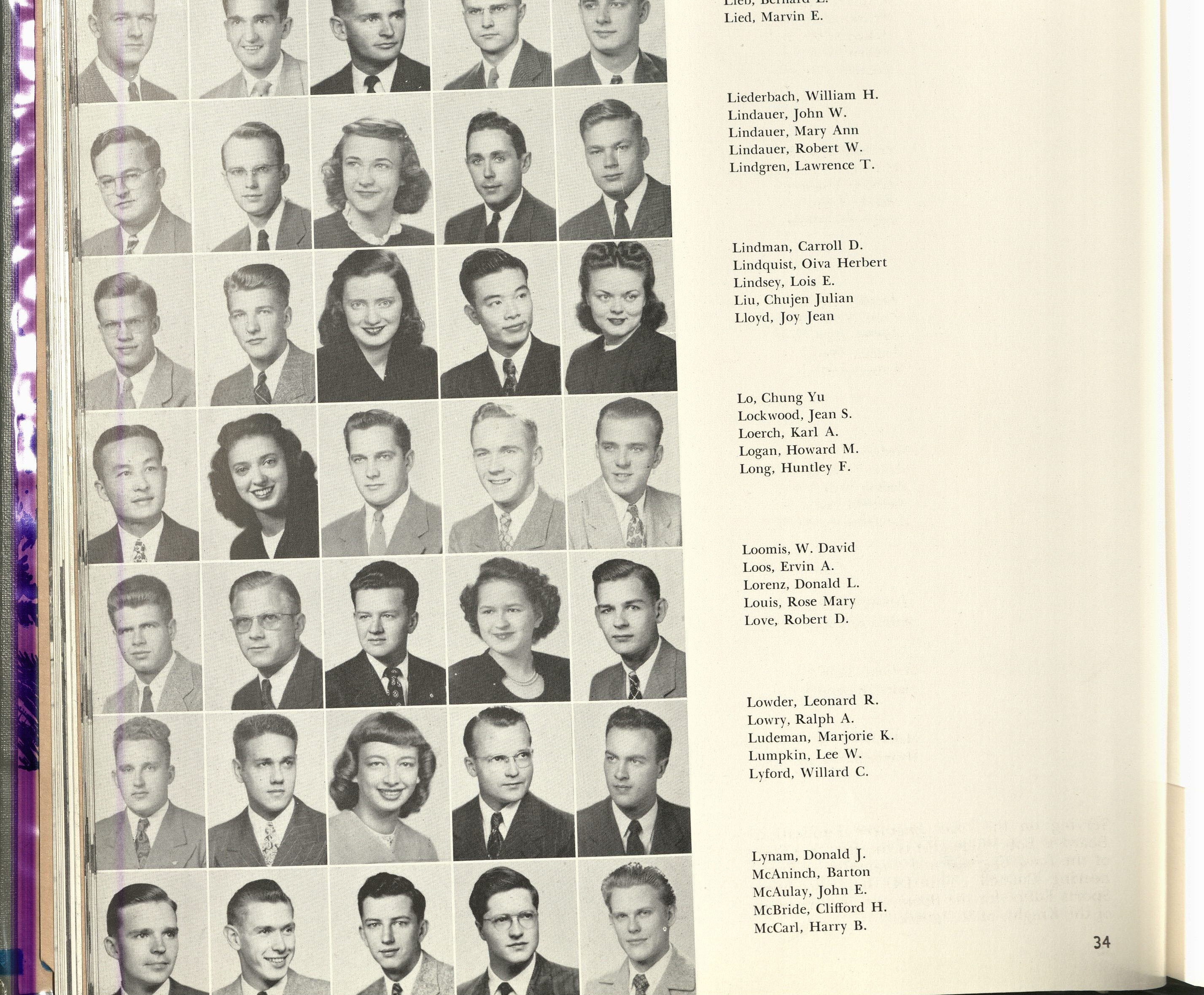 1948_Liu and Lo with Classmates