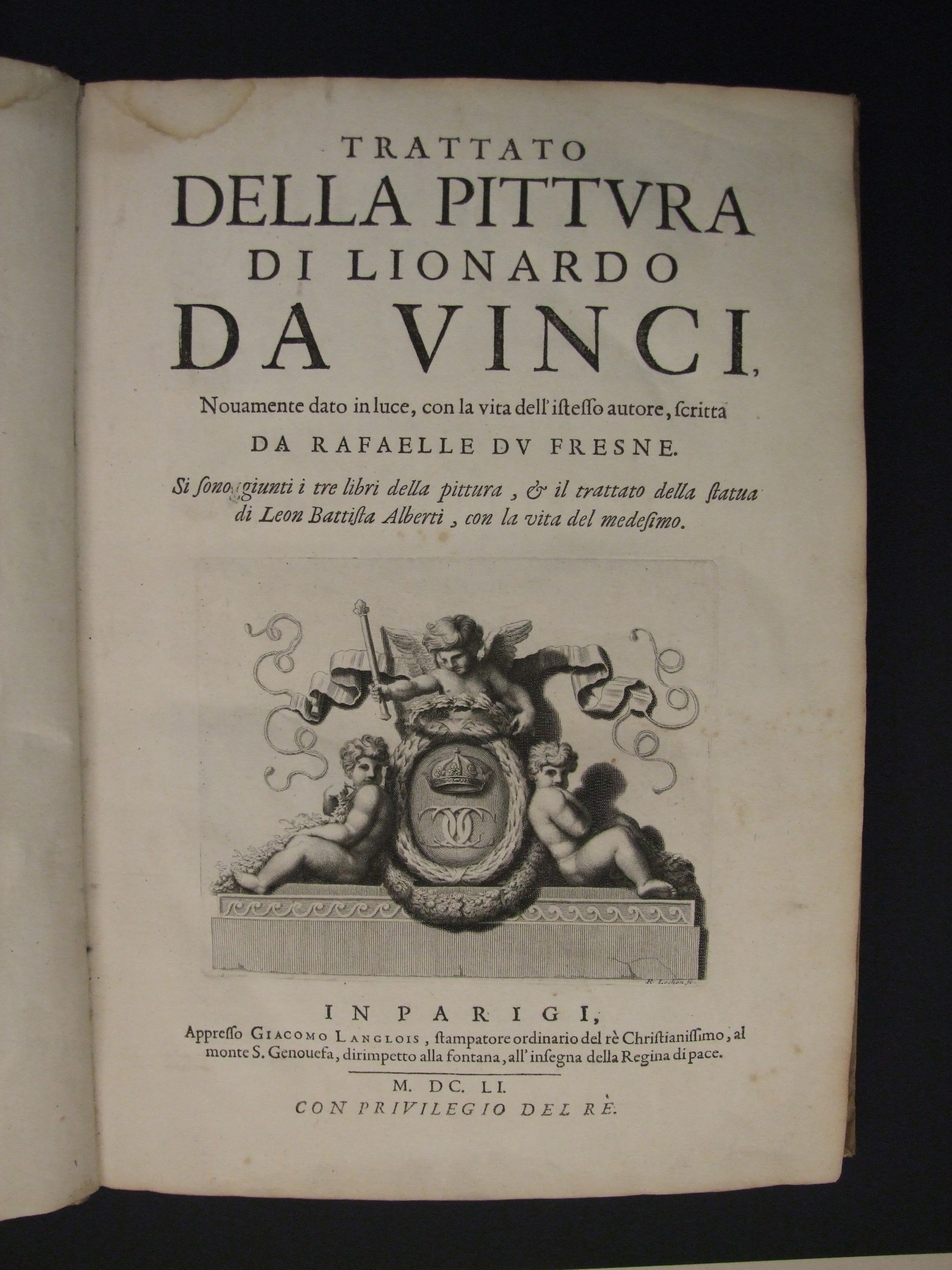 Title page with engraved half-title illustration.
