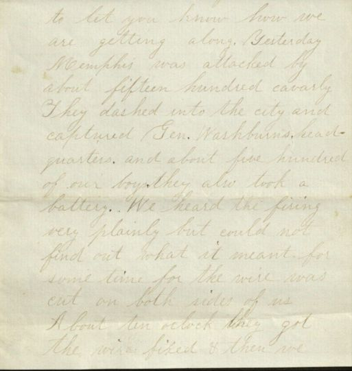 Rankin letter dated August 18, 1864, part 1.