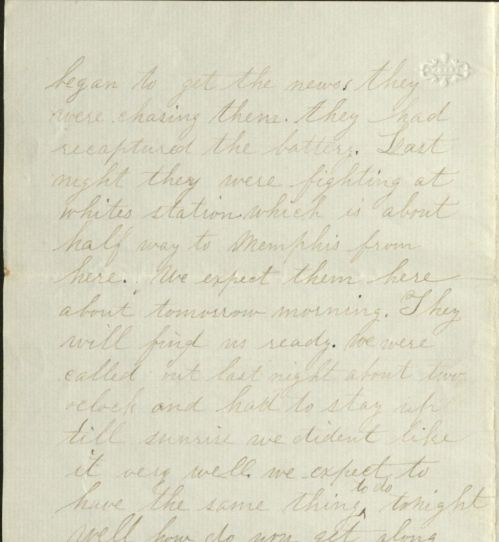 Rankin letter dated August 18, 1864, part 2.