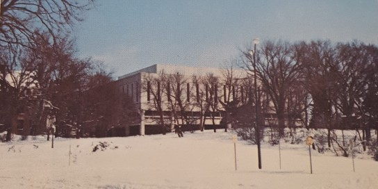 Snow covered building - 1974 Bomb pg. 102