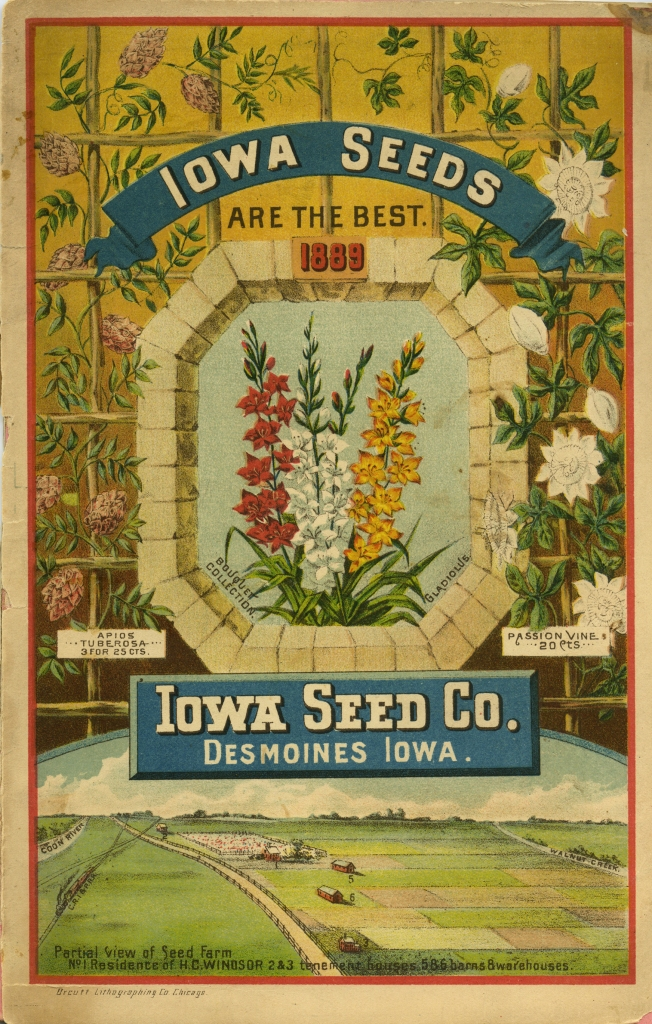 1889 Iowa Seed Company Catalog with flowers