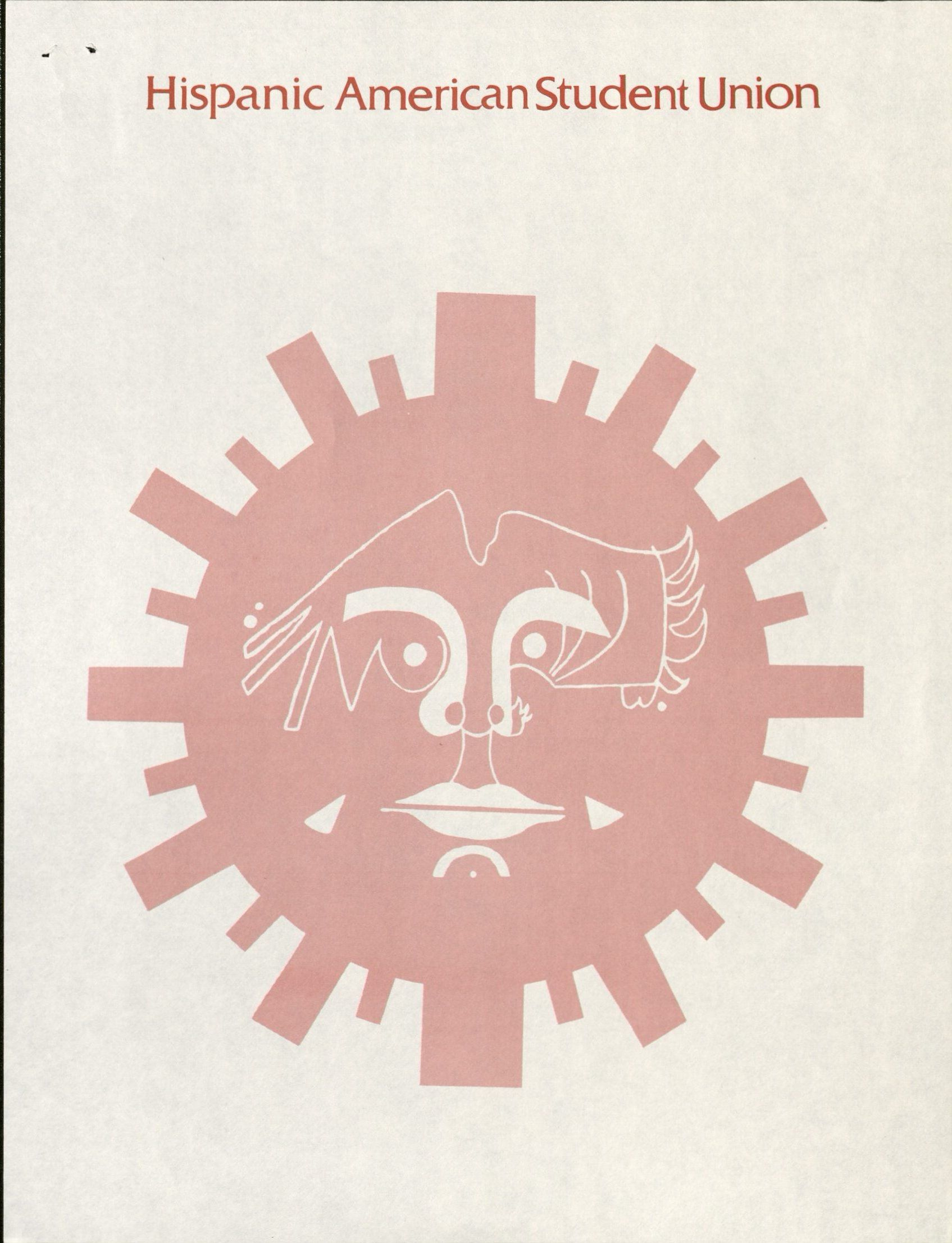 HASU poster, date unknown, featuring a logo in the shape of a red sun with a face.RS 22/03/00/01